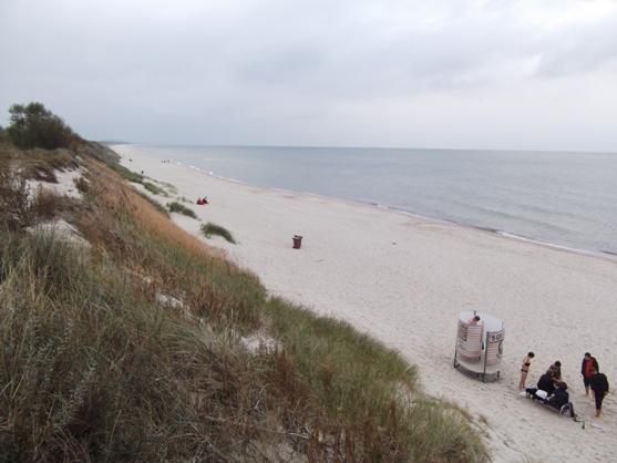 Baltic beach scene. Near Nida