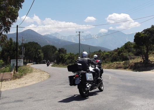 Near Galeria. We saw many more bikers than cyclists. Early summer is prime time - before the roads fill with slow-moving camper vans