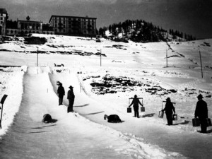 Early sledging below the Kulm
