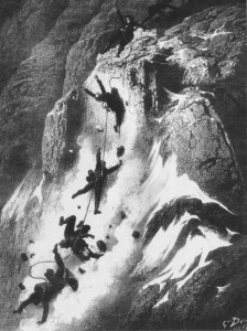 The rope broke. Gustave Dore
