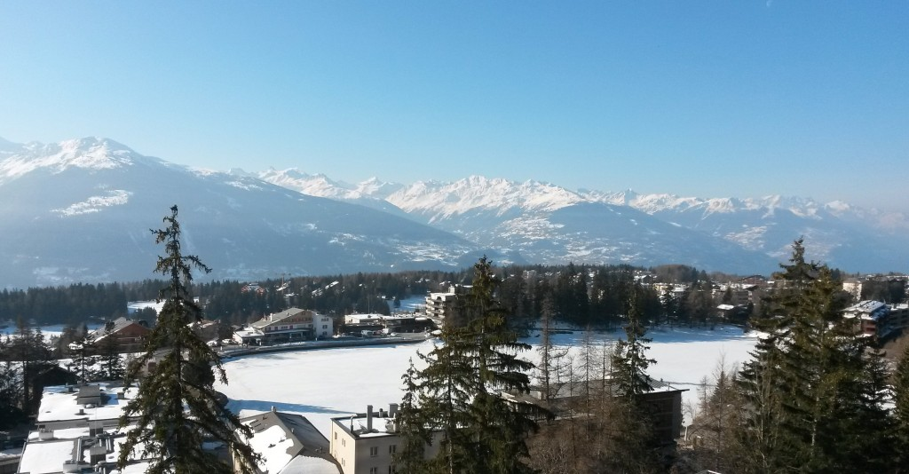 Six of the best - breakfast view from Crans Montana