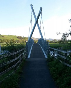 Millennium Bridge over the Dovey, Machynlleth