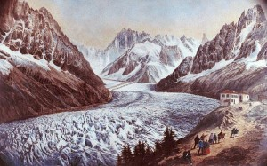 Before: Montenvers in the Little ice Age