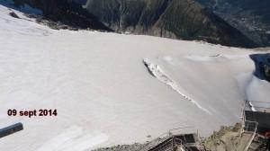Les Grands Montets glacier Sept 2014