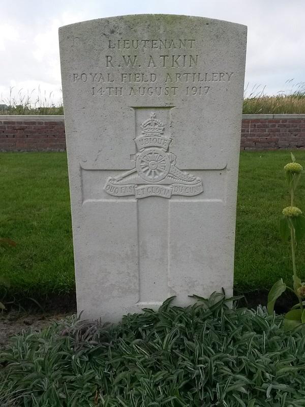 RW Atkin, Dragoon Camp Cemetery