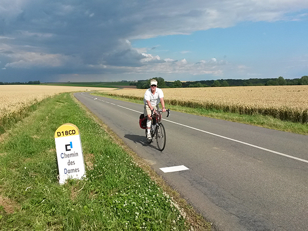 Chemin des Dames cycling