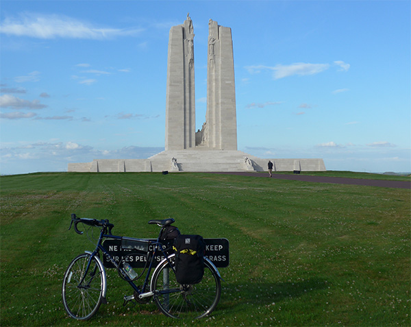 Vimy Ridge, cycling the Western Front