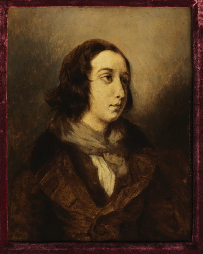 George Sand by Delacroix, 1834